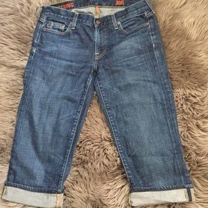 J. Crew Hipslung Cropped Jeans 30R